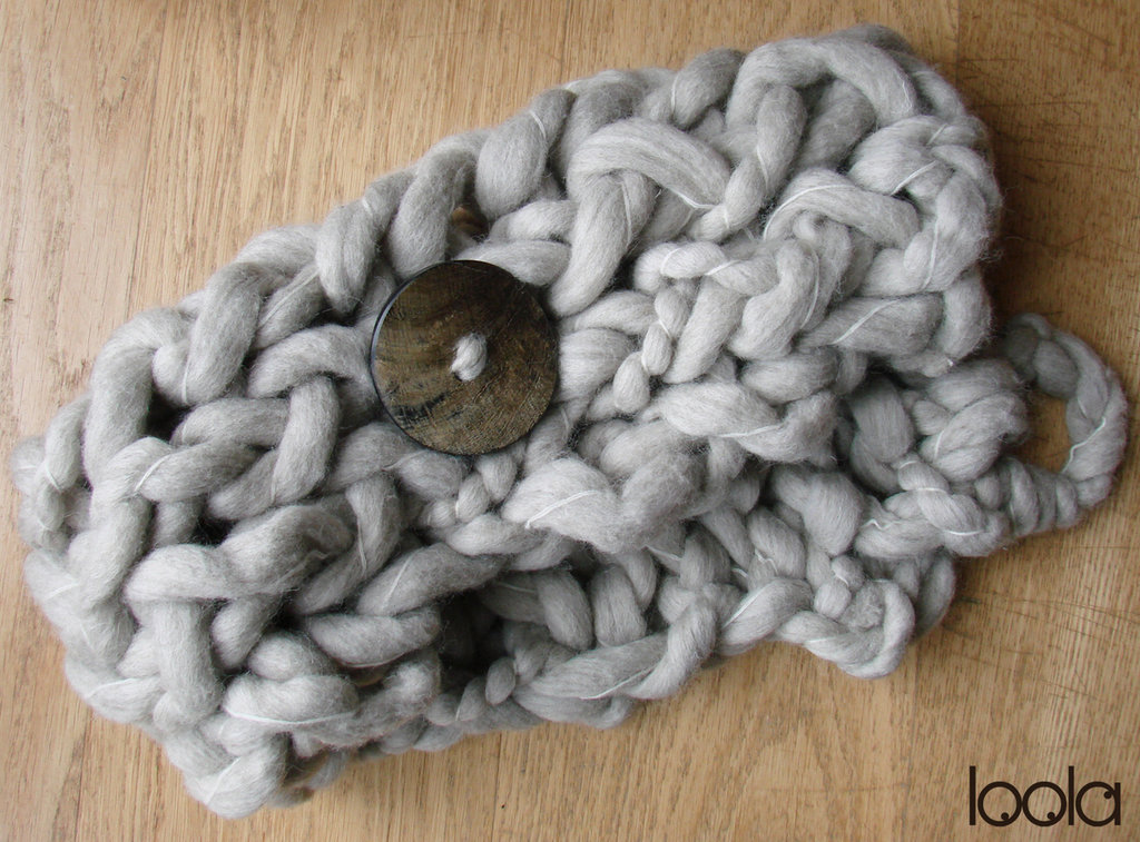 scaldacollo in pura lana vergine super spessa