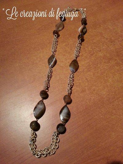 Collane in catena e pietre dure gioielli collane di le creazi su misshobby - Collane di design ...