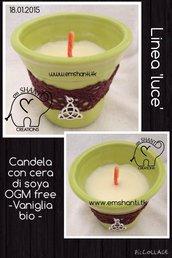 Candela linea LUCE di soya & vaniglia bio