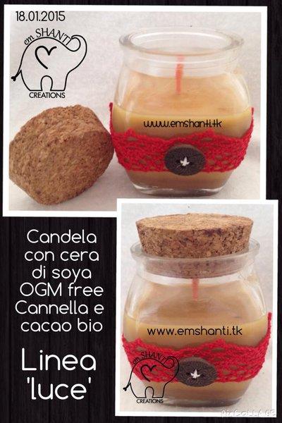 candela linea LUCE di soya cacao&cannella vaniglia