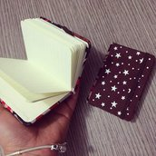 piccola agenda pan di stelle in fimo effetto biscotto cookie note book