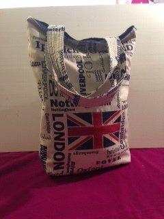 Borsa tessuto shopping città inglesi