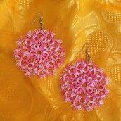 orecchini al chiacchierino Sole rosa