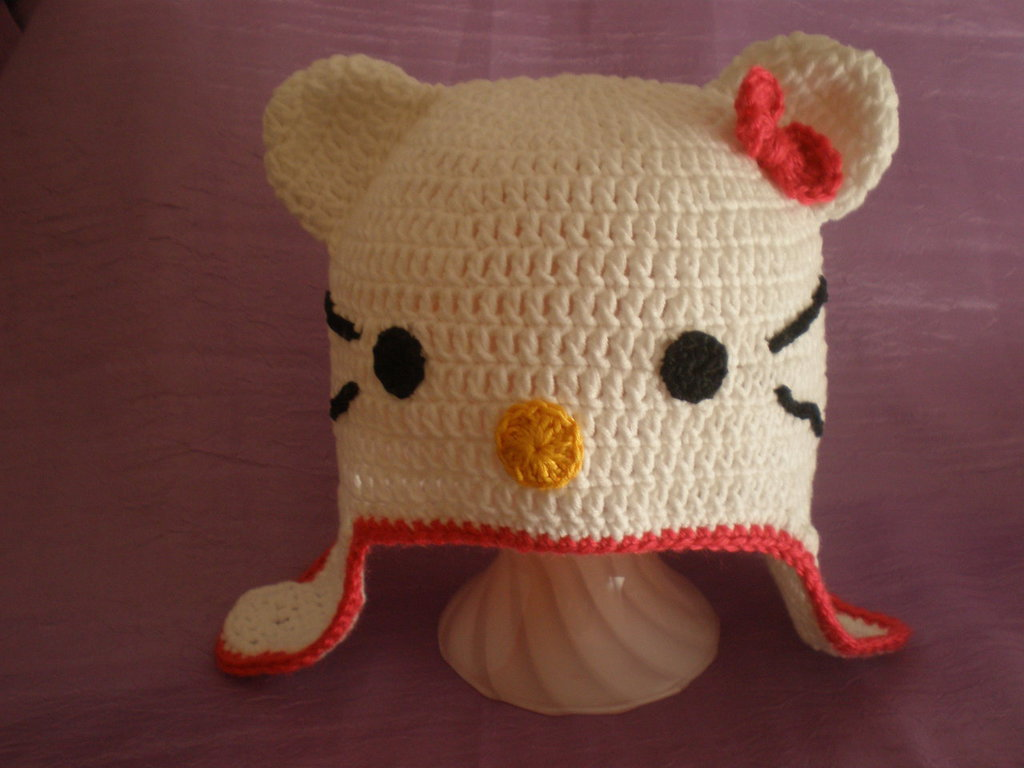 cappello bimba hello kitty uncinetto