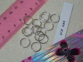 20 anellini mm.12x1 color argento lucido