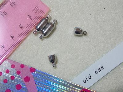 chiusura magnetica argento lucido mm13x6