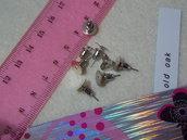 orecchini a perno con base per cabochon  + tappi metallo