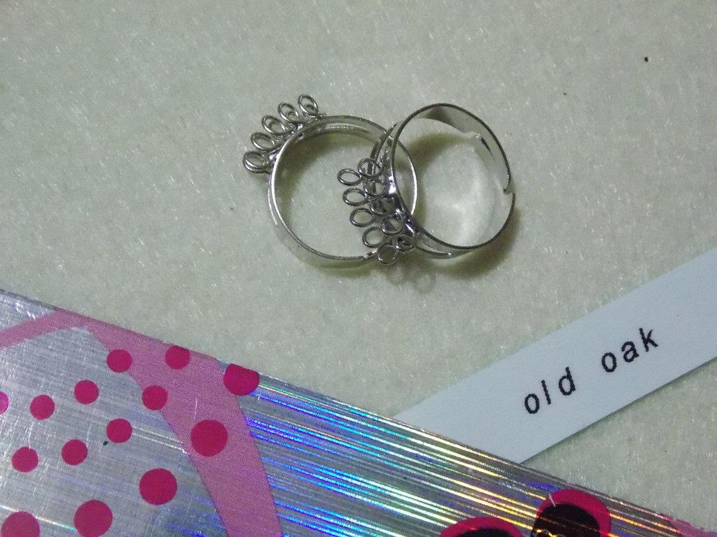 Base anello con 2 file da 5 anellini