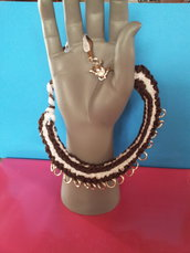 collana in organza bicolore modello Elisa