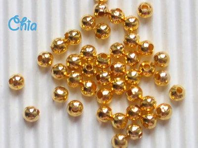 60 perline 4 mm circa color oro