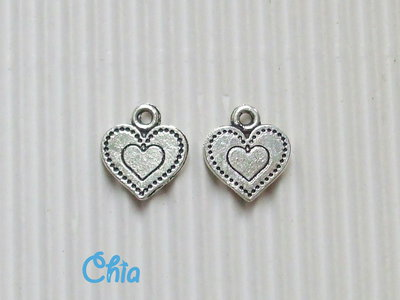 9 charms cuoricino13x11mm