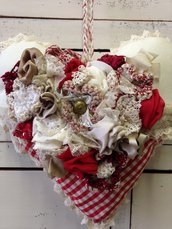 Cuore San Valentino vintage shabbychic
