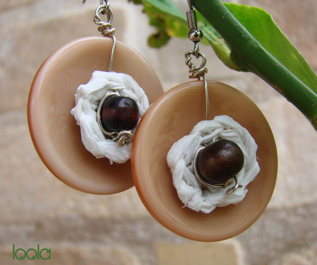 orecchini bottone&sacchetto plastica