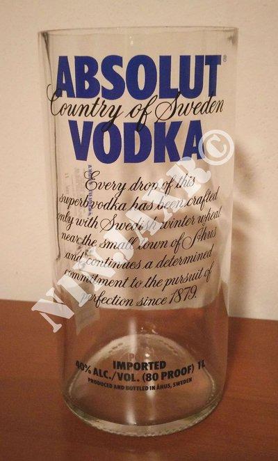 Vaso porta oggetti Bottiglia Vodka Absolut da 1 L.