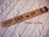 Segnalibro in legno Keep calm and eat Nutella