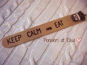 Segnalibro in legno Keep calm and eat Nutella