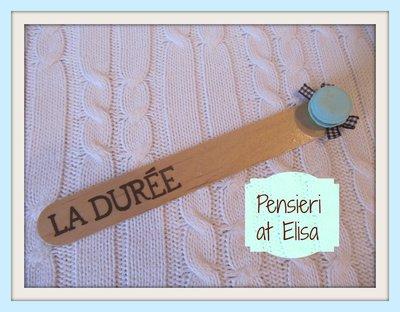 Segnalibro in legno macaron turchese Ladurée Parigi
