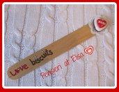 Segnalibro San Valentino biscotto a forma di cuore handmade in fimo
