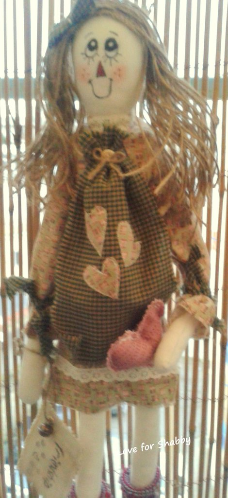 Bambola stile rag and primitive fatta a mano-Primitive doll-
