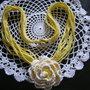 collana gialla in cotone