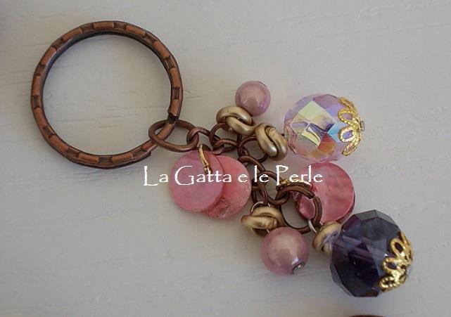 Portachiave Tiralampo Perle e Cristalli