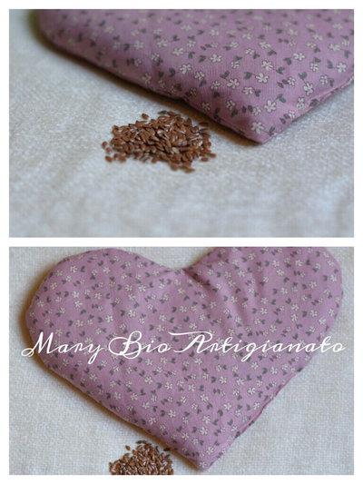 Cuscino scaldaletto in semi di lino 25 cm