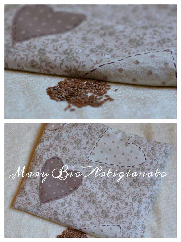 Cuscino scaldasonno in semi di lino 20x25cm