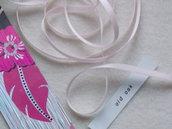 1 metro di nastro doppio-raso mm.6 - rosa baby
