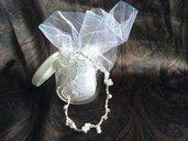 Argento in fili con perle
