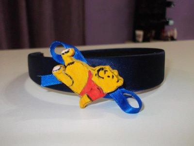cerchietto raso blu winnie the pooh