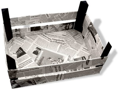 Porta riviste con giornali