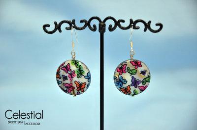 Orecchini Madreperla Fancy - Farfalla colorate