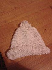 Cappello/berretto con papion bianco