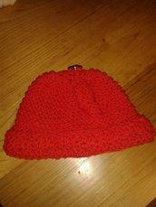 Cappellino bambino/ bambina rosso