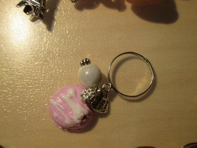 anello fimo golosità pink