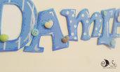 Banner name Damiano decorazioni cameretta adesive
