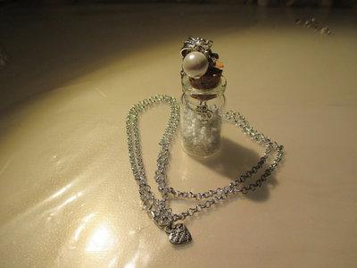 Collana lunga Rare Pearls bottle miniatura