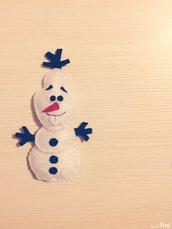 Pupazzetto Olaf feltro