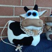 mucca mucchetta fermaporta fermalibri stoffa e pannolenci