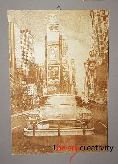 "Incisione ""New York vintage"""