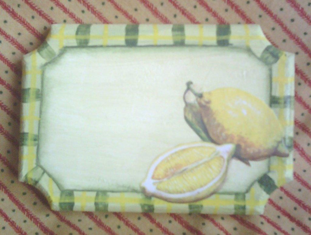 """Targhetta """"Limoni"""" da personalizzare"""