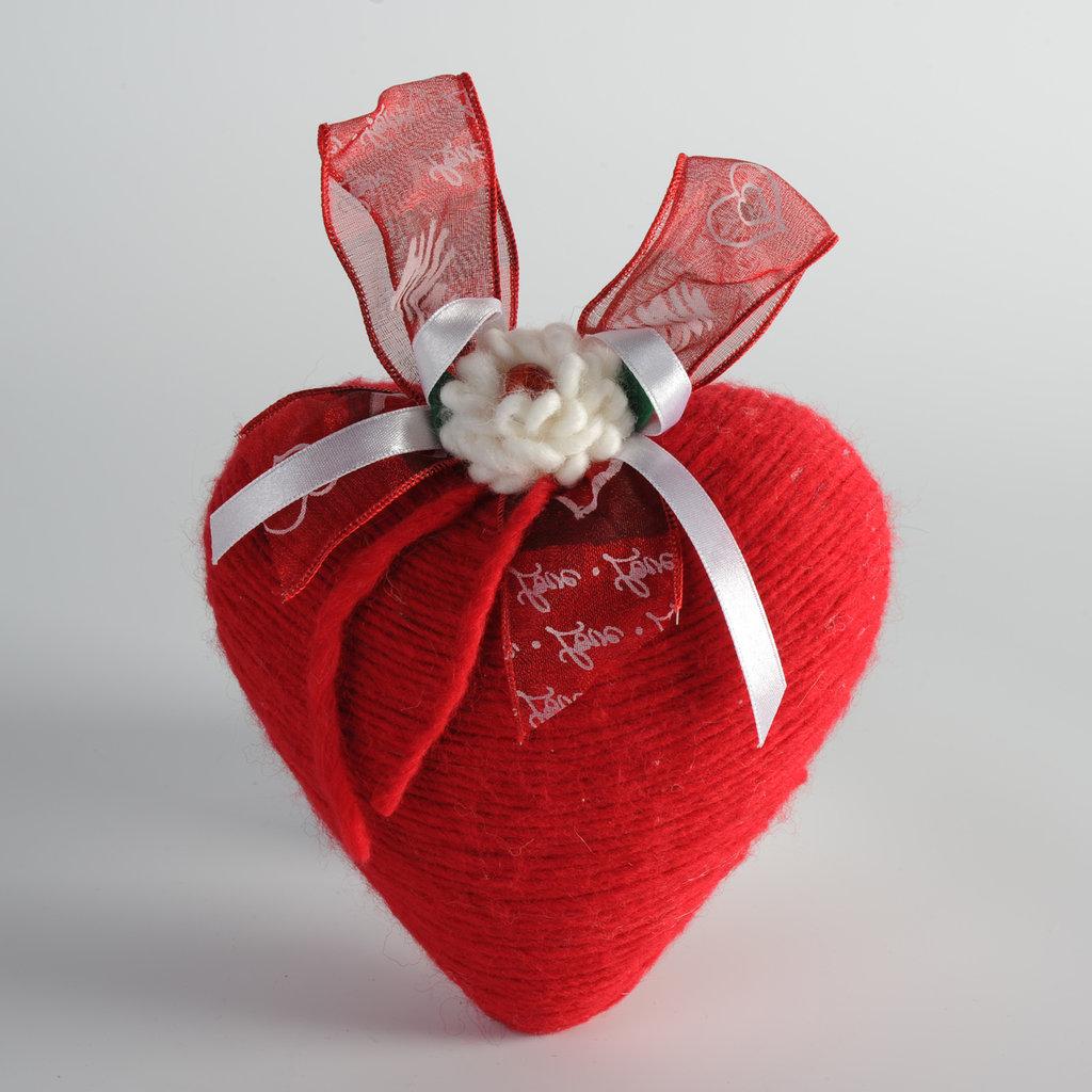 cuore con lana