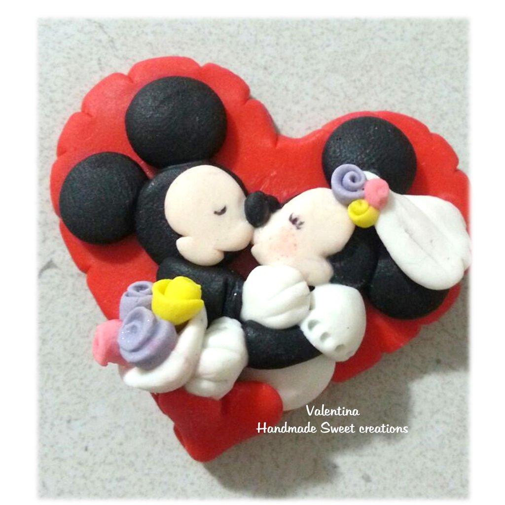 Calamita segnaposto bomboniera matrimonio topolino minnie Idea regalo San valentino