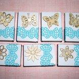 Scatoline SegnaPosto - Mini Bomboniera Porta Confetti per Matrimonio - *Farfalle&Fiori*