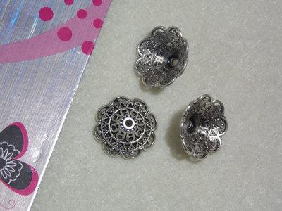 coppette copriperla a cono in argento pesante