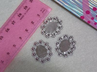 Base cabochon ovale con 10 basi per perle