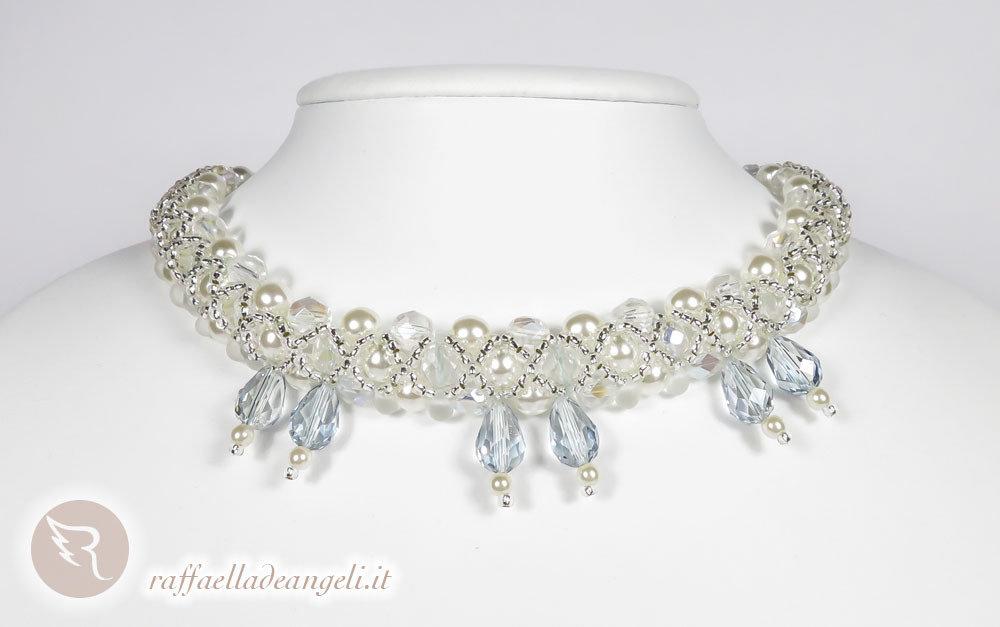 Collana cristalli e perle di Boemia Angelica 03
