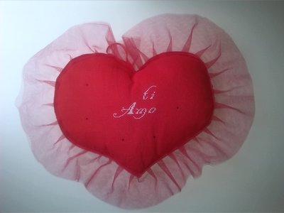 Cuore innamorato rosso medio