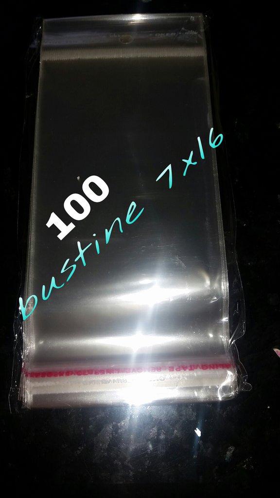 100 bustine con chiusura adesiva