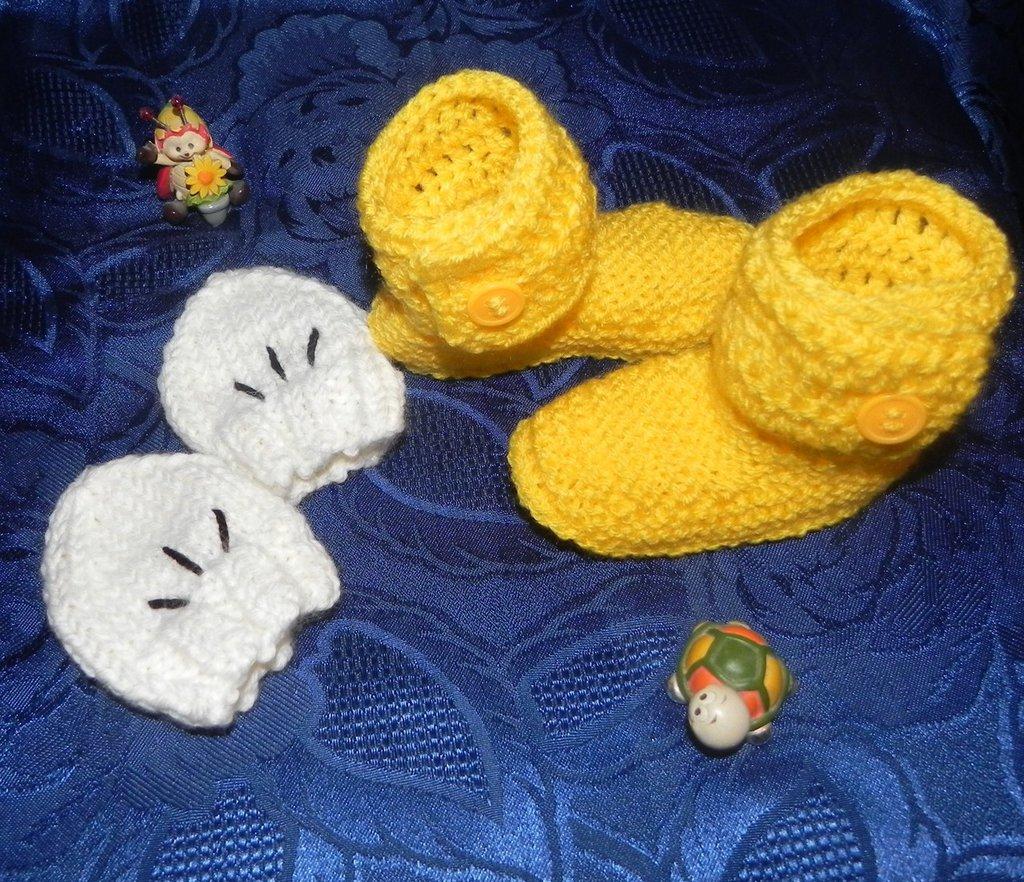 Stivaletti-scarponcini + guantini bambini unisex  Topolino